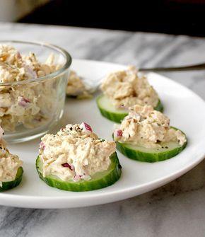 Tuna Salad Cucumber Bites #healthyfood