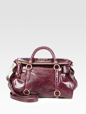 911f1fcb8e1 WANT! Miu Miu - Vitello Lux Medium Bow Satchel - Saks.com   Products ...