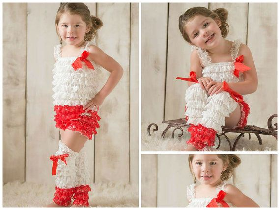Girls Christmas Outfit // Red And White Romper by AdalynsBoutique, $24.99  www.adalynsboutique.com