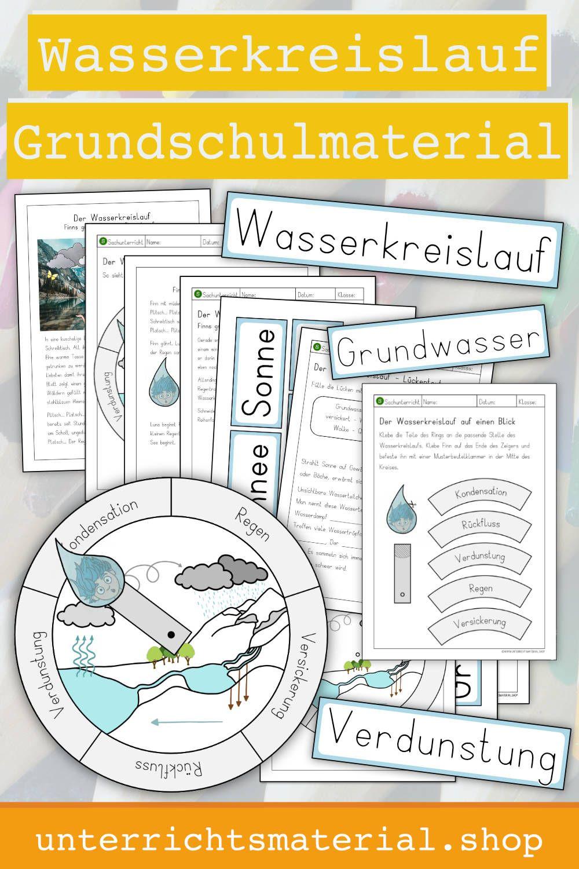 Wasserkreislauf Arbeitsblatt   Elementary school materials ...