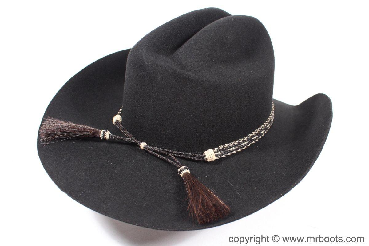 Au Hh05 2 Horse Hair Hat Band Five Strand 2 Tassels Horse Hair Hat Band Cowboy Hats Hat Band
