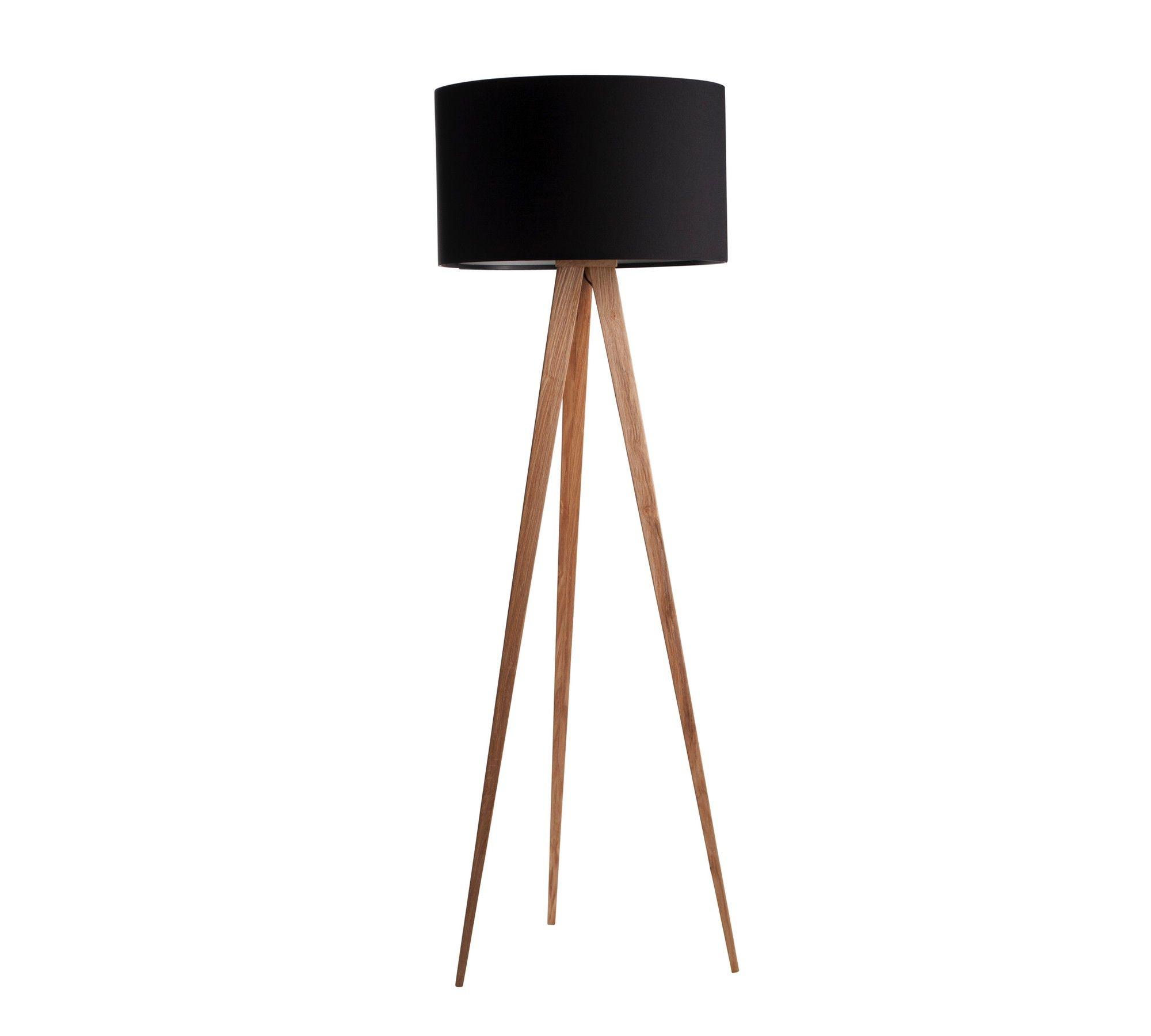 Zuiver Stehlampe Tripod Wood Schwarz 10003917