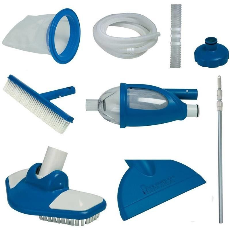 Pool maintenance kit cleaning swimming vac pole heads brushes hose pool maintenance kit cleaning swimming vac pole heads brushes hose skimmer net intex solutioingenieria Image collections