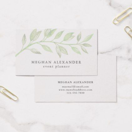 Modern Botanical Business Card  Minimal Gifts Style Template Diy