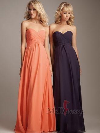 like the idea of long bridesmaids dresses