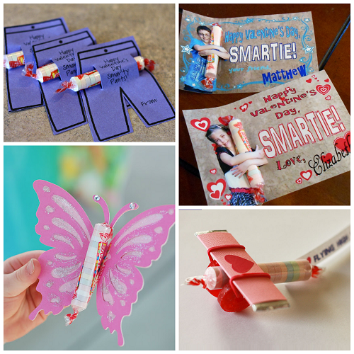 Valentine Ideas for Kids Using Smarties Candy – Kids Handmade Valentine Cards