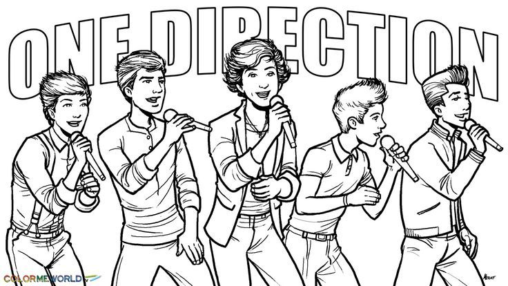 one direction coloring pages to print | 1D Coloring Pages One Direction Coloring Pages | Printable ...