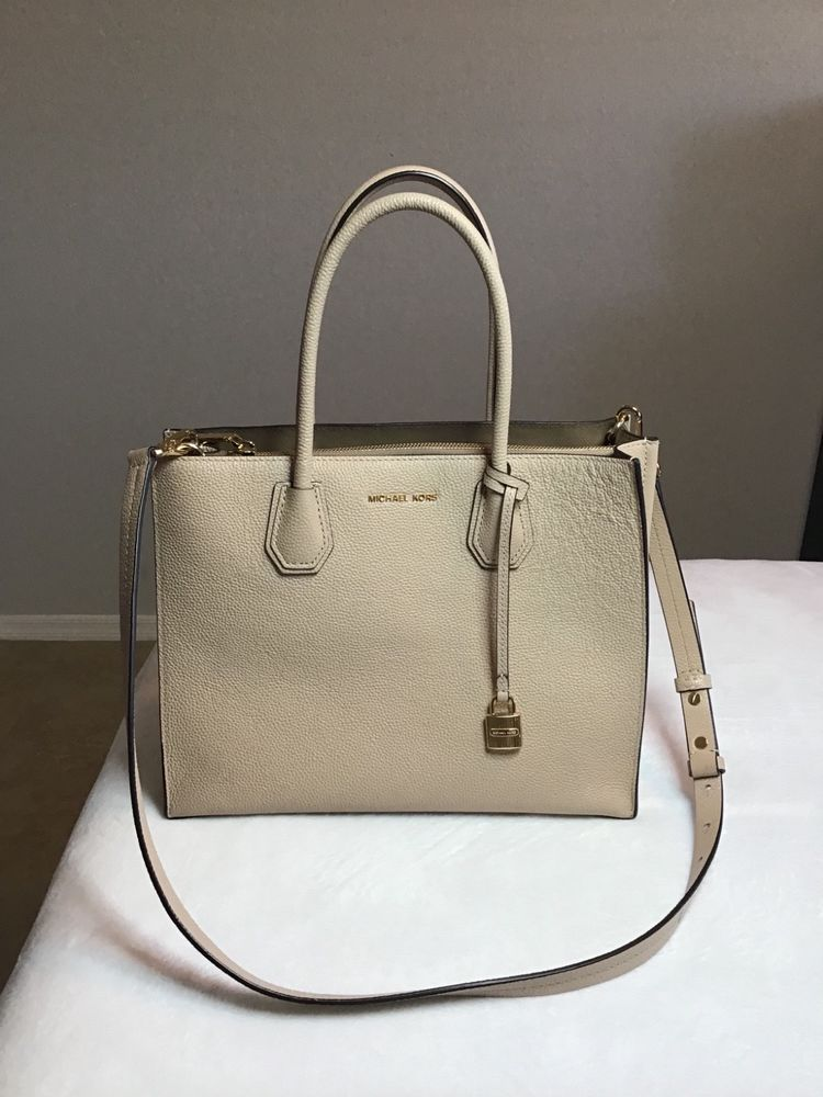 801d2d64d8 Michael Kors Mercer Large Leather Tote Soft Pink NWT 30F6GM9T3L-187   fashion  clothing  shoes  accessories  womensbagshandbags (ebay link)