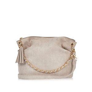 Girls grey chain handbag