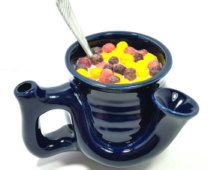 2nd Tier Cosmetic Flaw Imperfect Wake and Bake Cereal Bowl