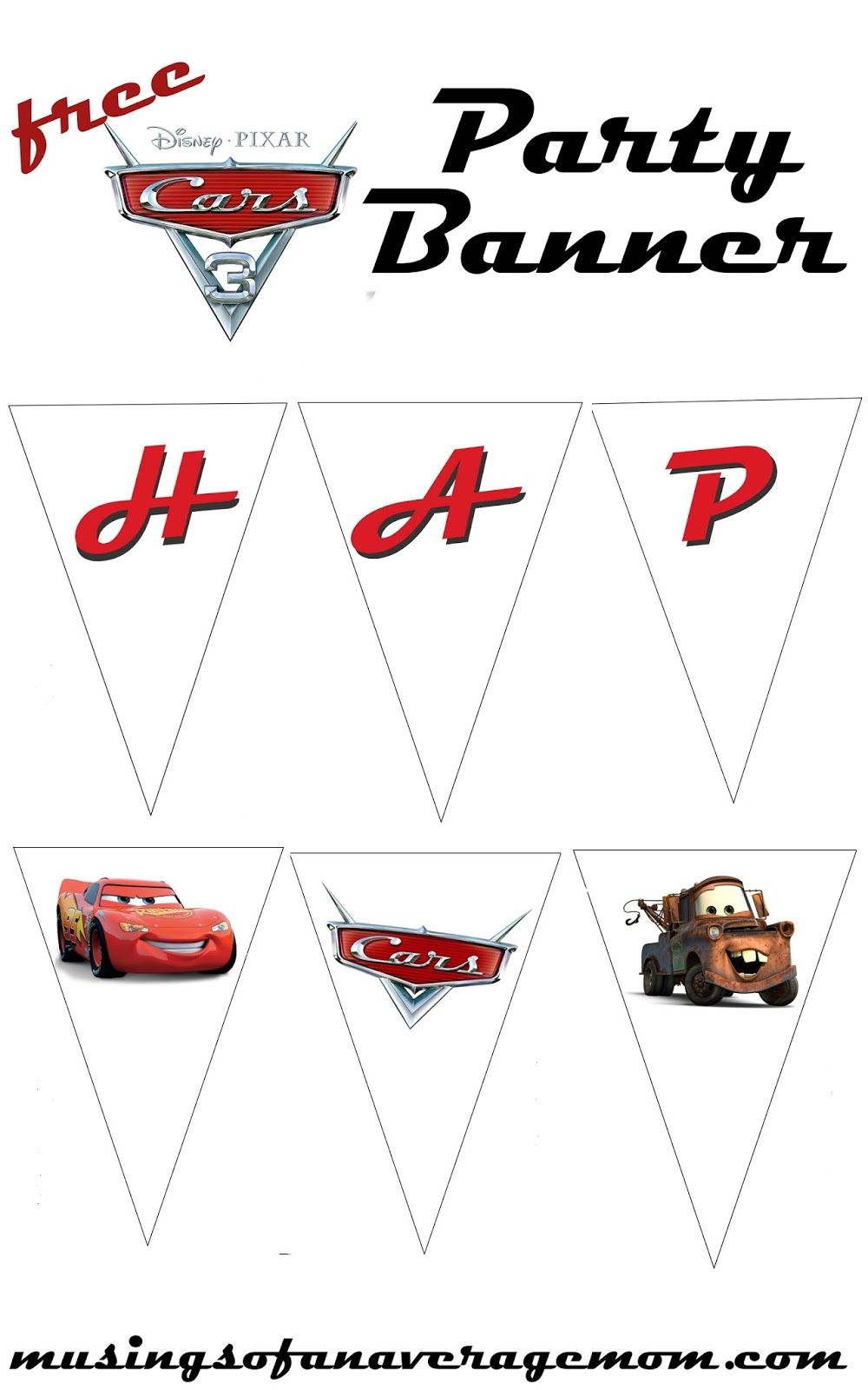 Cars 3 Party Banner With Images Cars Birthday Party Disney