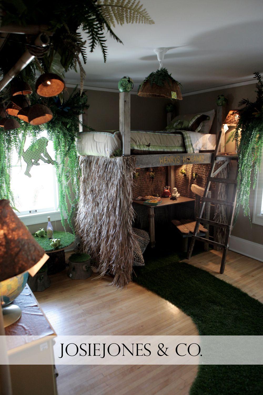 Childs bedroom idea decorating ideas for little boys room or little girls room safari themed from bachmans idea house via josiejonesco
