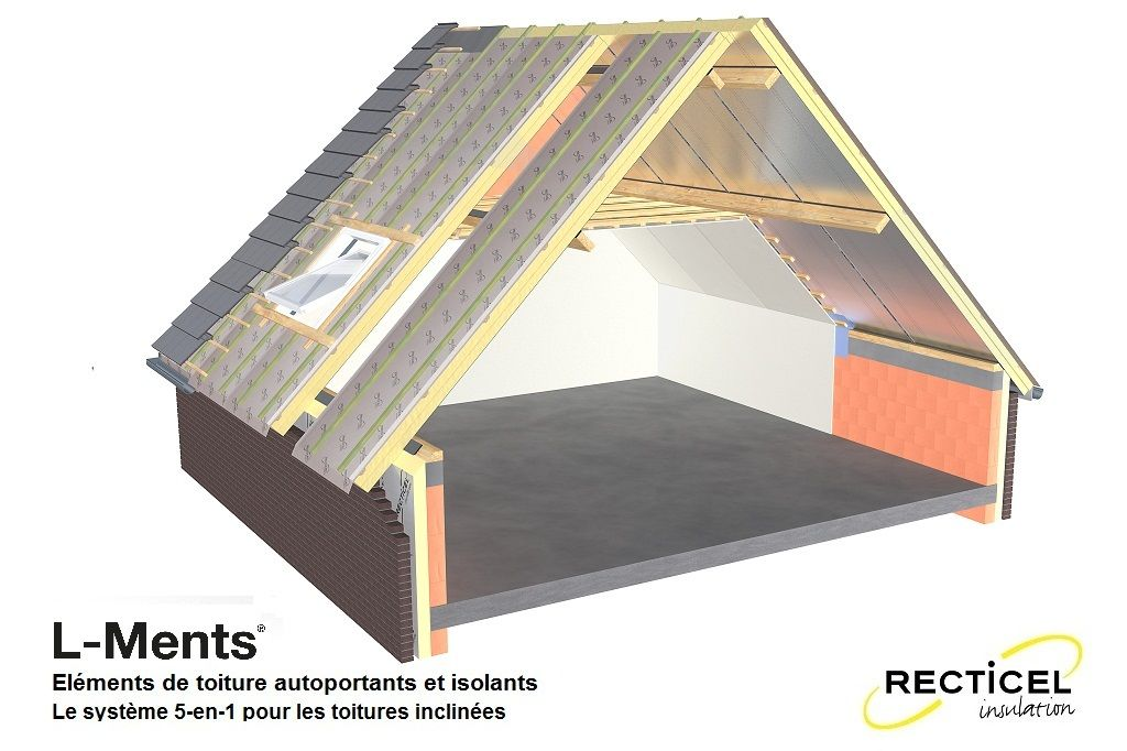 L-Ments - Eléments de toiture autoportants et isolants - Le système 5 en 1 pour les toitures ...
