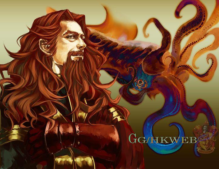 Gryffindor And Squid By Flayu On Deviantart Harry Potter Artwork Harry Potter Fan Art Gryffindor
