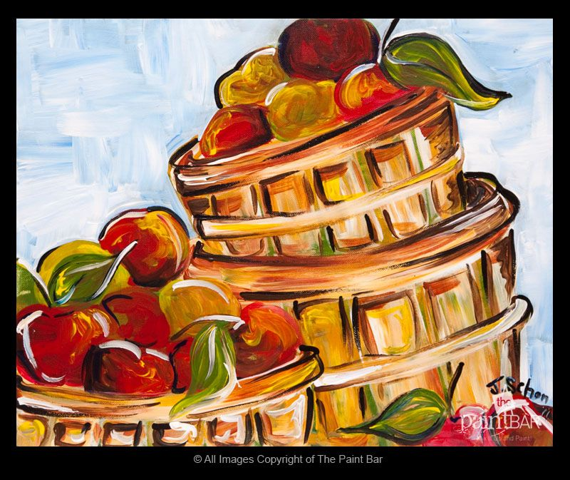Paint Basket Art Lessons : Basket of apples painting perfect for fall paintings