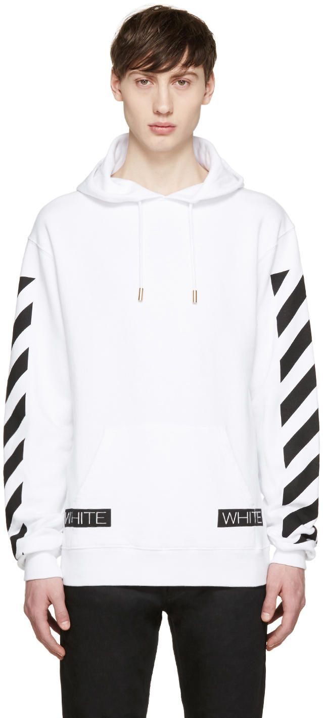 Off White White Blue Collar Hoodie Ssense Off White On Shoppingis Make Shopping More Fun Discover And Share Product Off White Clothing Hoodies Off White [ 1418 x 639 Pixel ]