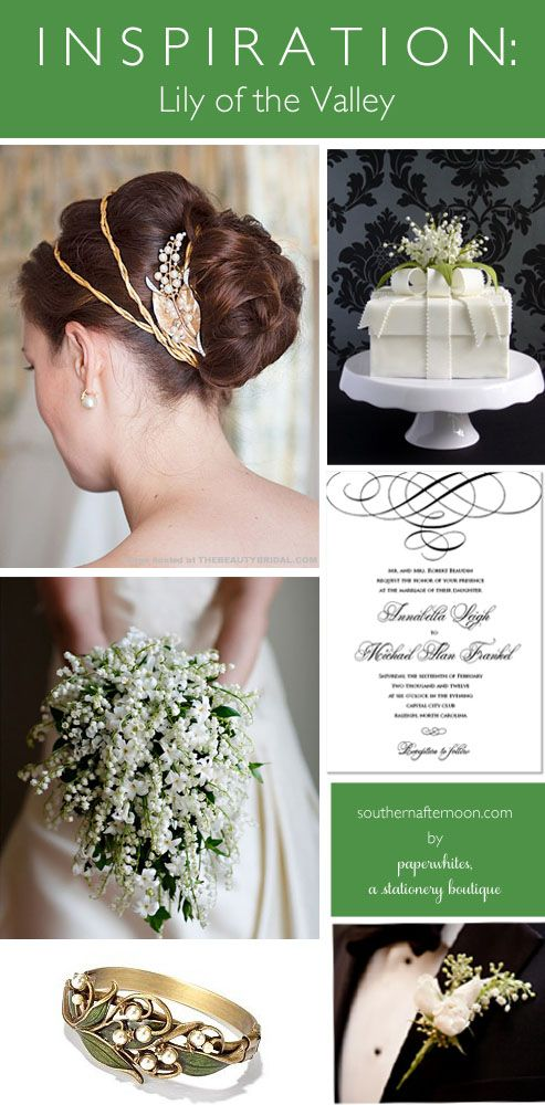 Paperwhites press lily of the valley wedding invitation | Lily of ...