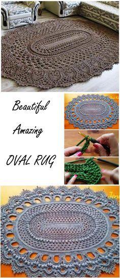 Amazing Oval Rug Crochet Rugs Pinterest Oval Rugs Crochet And
