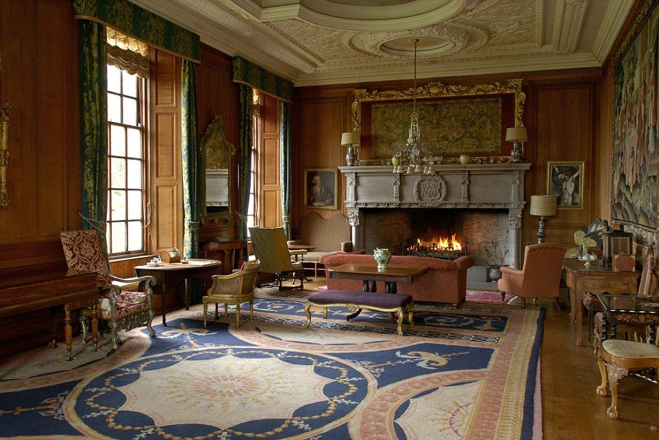 scottish homes and interiors. Ardkinglas is a classic Scottish mixture of crow stepped gables  crenellations and candle snuffer towers plus fabulous interiors including the drawing room House Argyll Scotland Architect Sir Robert Lorimer