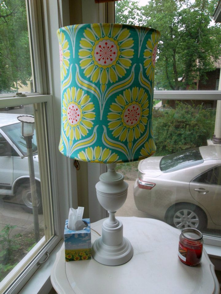 Fabric covered lampshade cover lampshade lampshade