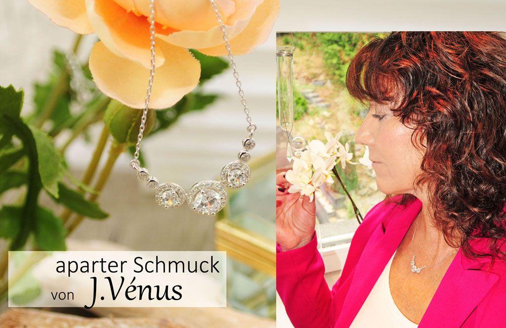 Glitzer Schmuck Silber günstig J.Vénus
