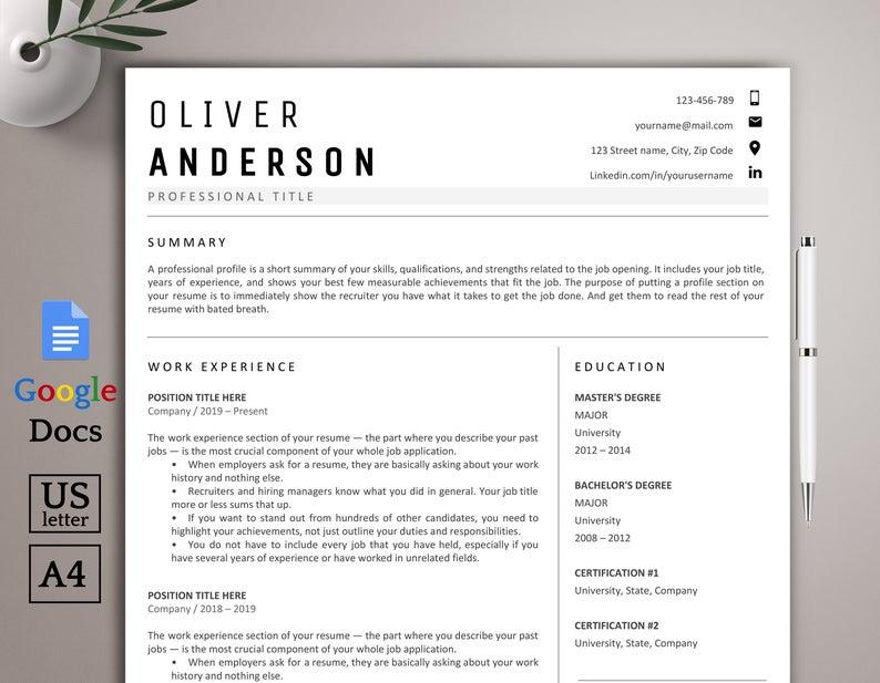 Pin on Resume Templates, CV Resume