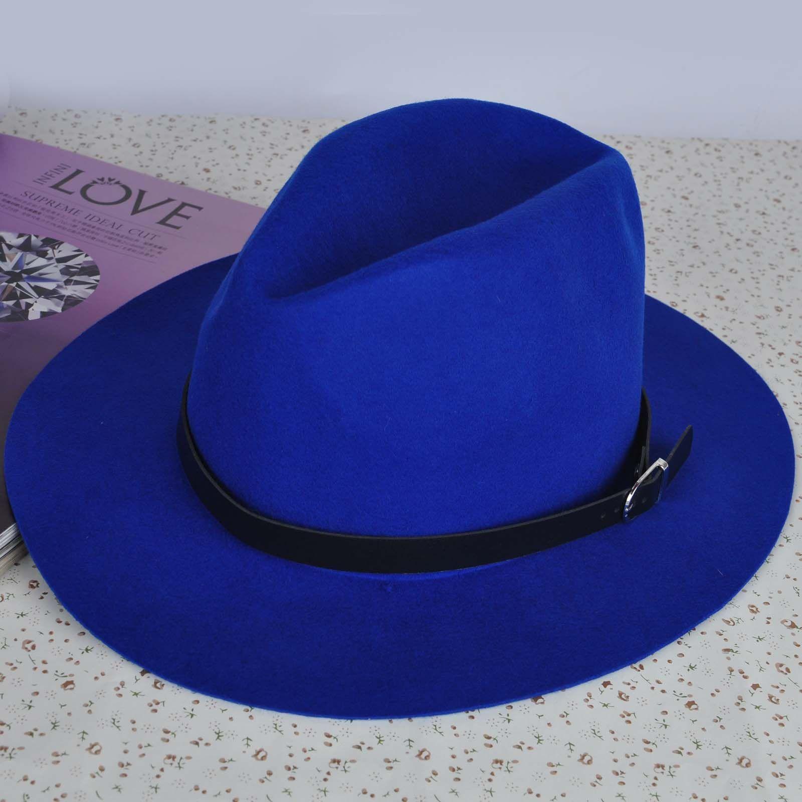 Blue Fedora hat