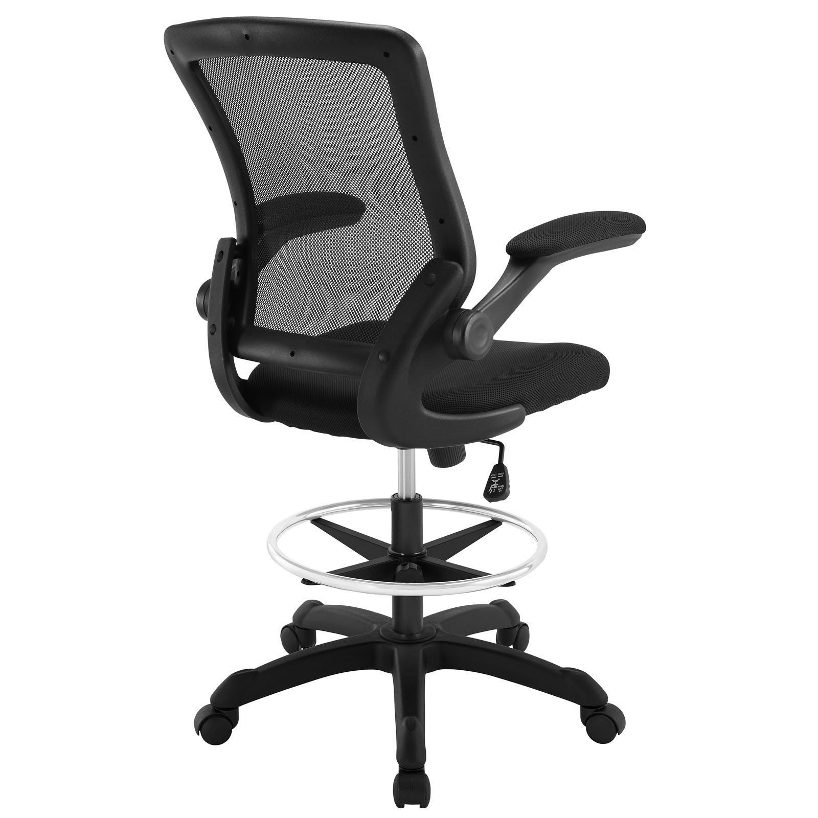 - Modway Modern Veer Drafting Stool Adjustable Computer Office Chair