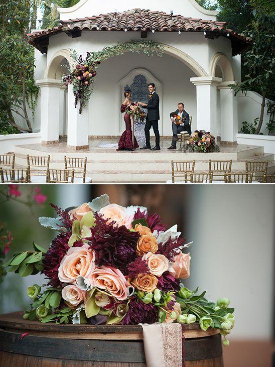 Red And Gold Spanish Wedding Ideas Spanish Wedding Spanish Style Weddings Wedding Ceremony