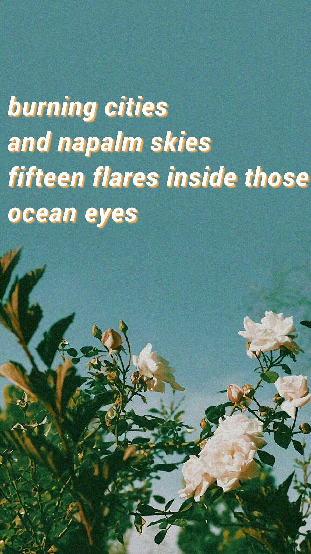 Ocean Eyes Billie Eilish In 2020 Music Quotes Lyrics Song Lyrics Wallpaper Lyrics Aesthetic