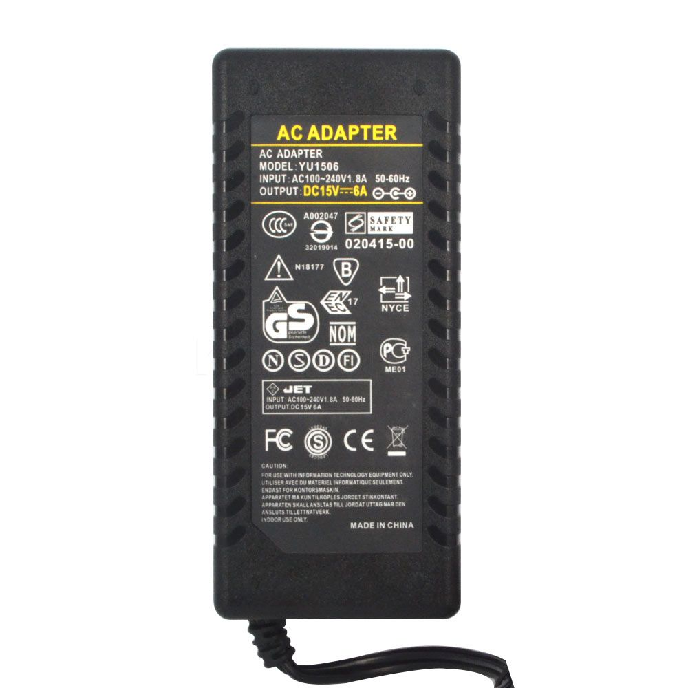 New Universal Ac Converter Adapter 100 240v 1 8a 50 60hz Dc 15v 6a 5 5mm Jack Power Supply Charger For Laptop Poe Switch In Adapers Adapter Power Supply Power