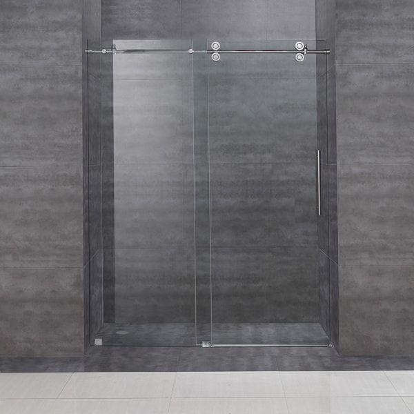 Aston Langham 60 Inch Completely Frameless Alcove Sliding Shower Door