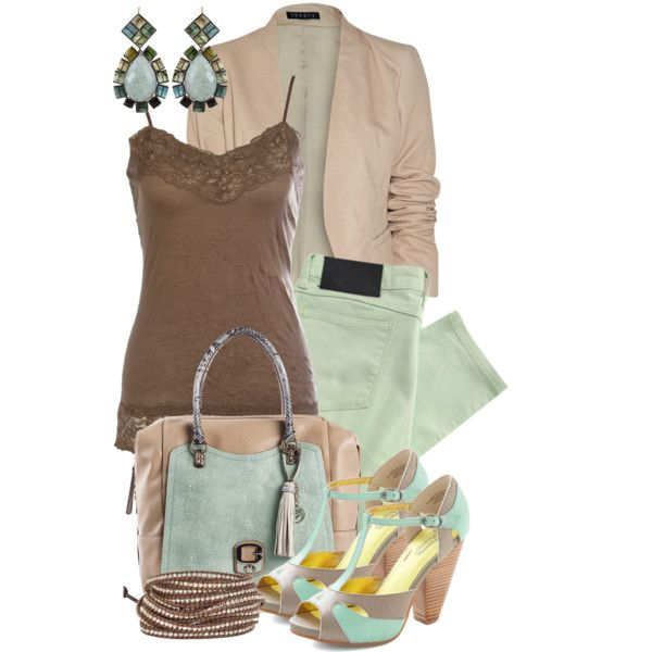 """mint & cocoa"" by sagramora on Polyvore"