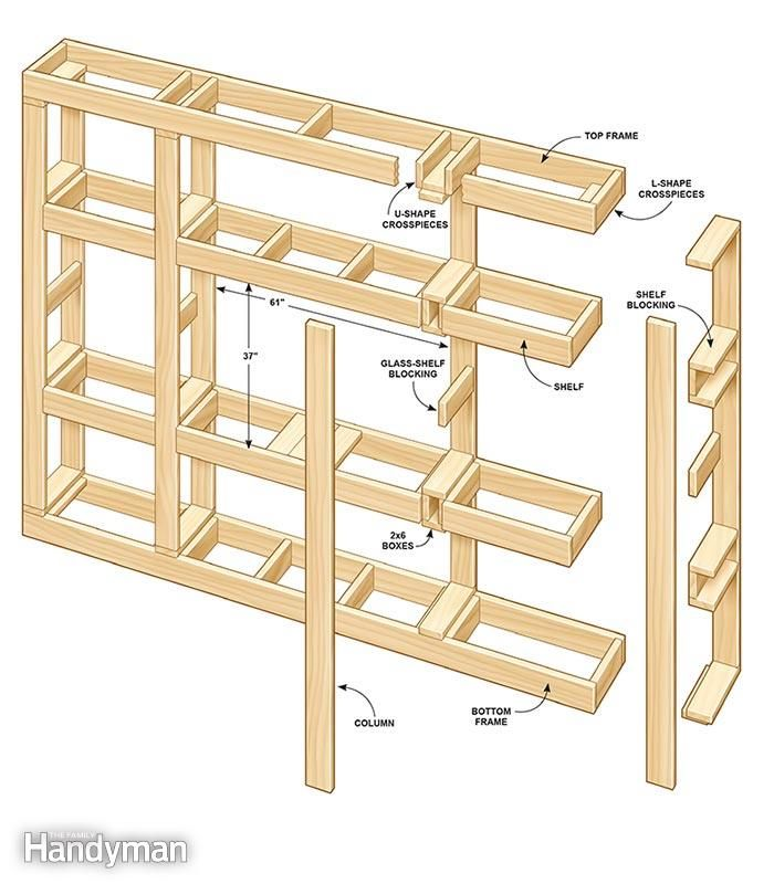 Showcase built in bookcase plans bookcase plans and for Showcase shelf designs