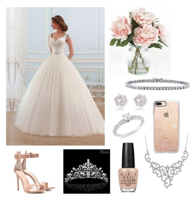 """Wedding Day"" by pippianne17 ❤ liked on Polyvore featuring Casetify, OPI, Gianvito Rossi, Ice, Luxiro, Home Decorators Collection, BERRICLE and River Island"