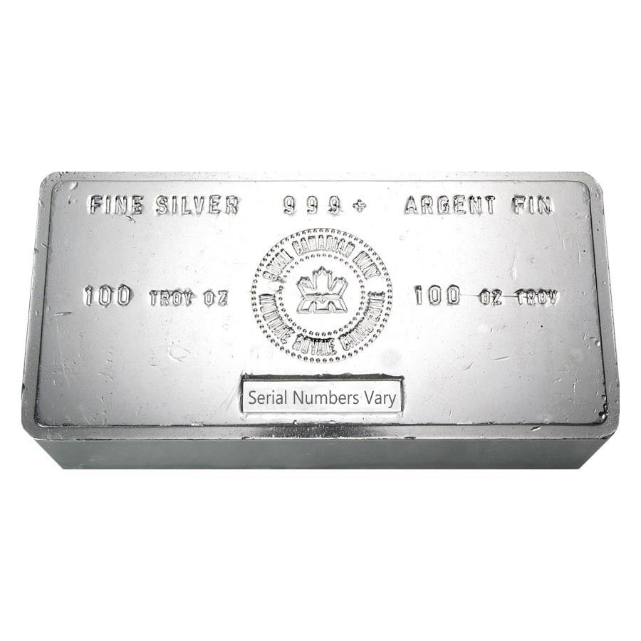 100 oz royal canadian mint rcm 999 fine silver vintage