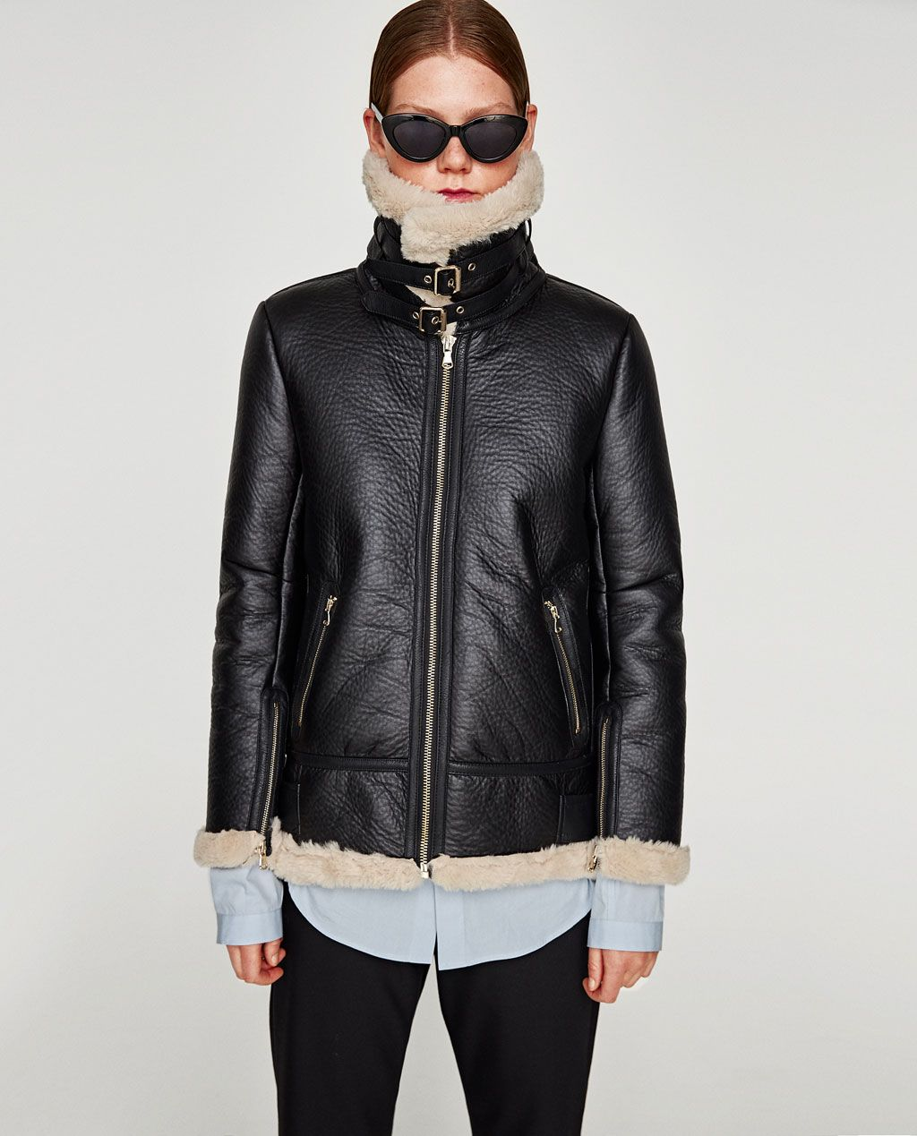 7d164ba0f81bf AVIATOR JACKET from Zara