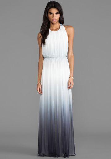 ALICE + OLIVIA Jinny Gathered Sleeveless T-Back Long Dress in ...