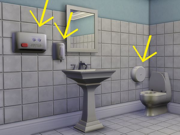 The Sims Resource Public Bathroom Decor By 333eve333 Sims 4 Downloads Public Bathrooms Sims 4 Bathroom Decor