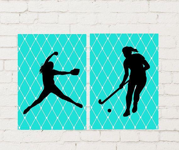 Field Hokey Wall Art Softball Pitcher Softball Gift Idea