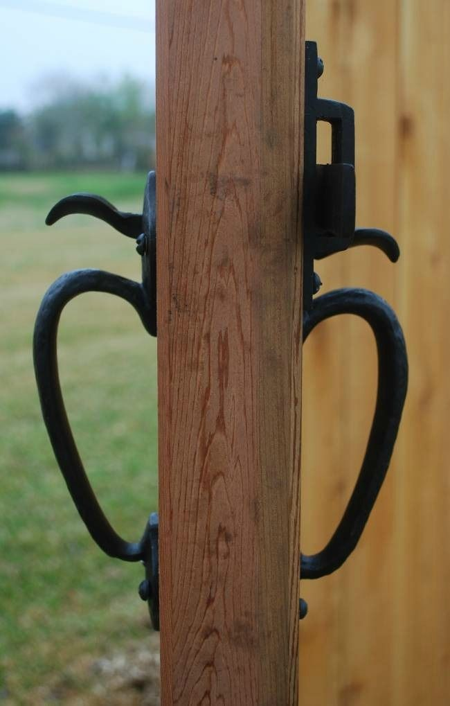 Coastal Bronze Double Thumb Latch Solid Bronze Hardware In A Back