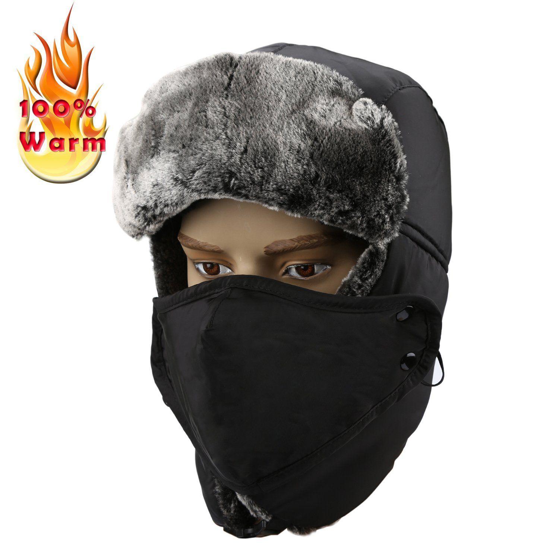 Amazon Com Allezola Warm Unisex Winter Trooper Hat Allezola Unisex Classic Winter Bomber Hats Hunting Trapper Hat Pilot Hat Trooper Hat Pilot Hat Bomber Hat