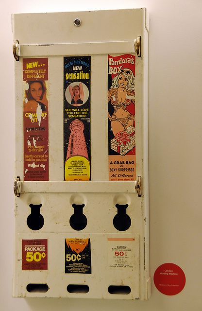 Old style condom machines