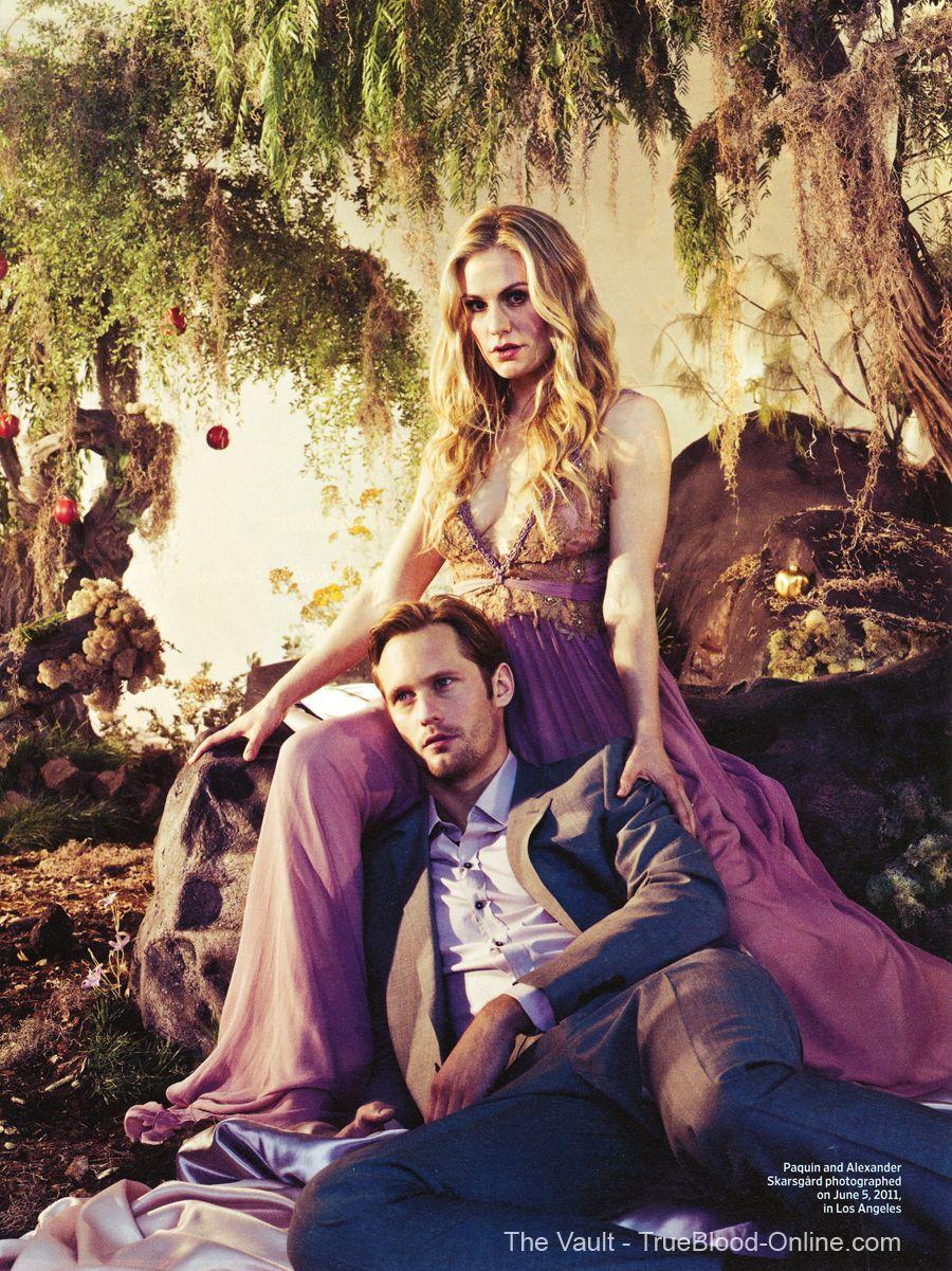 Sookie Stackhouse (Anna Paquin) and Alexander Skaarsgard (Eric Northman) photoshoot for Entertainment
