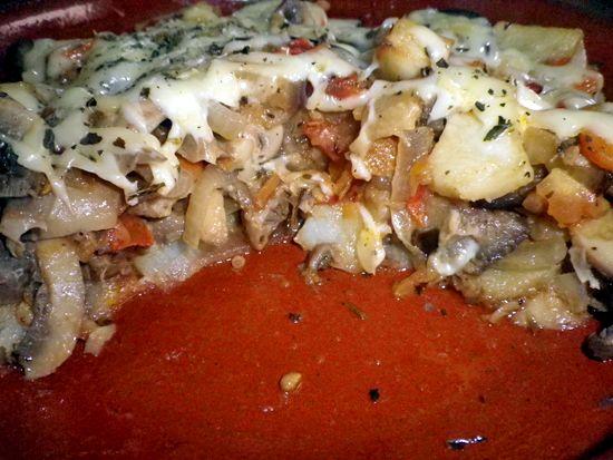 Vegspiration - Blog de inspiración vegana: Patatas con champiñones al horno (CSC#11)