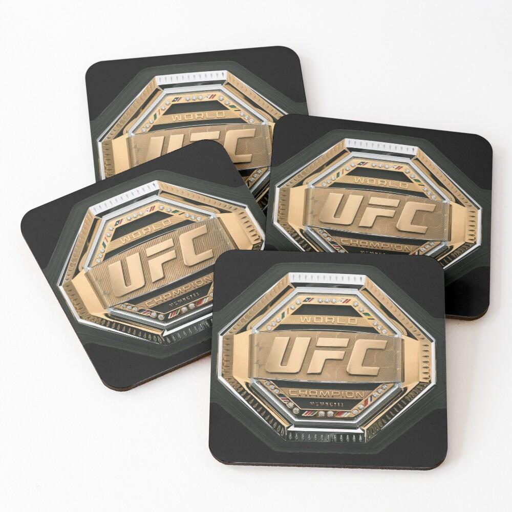 Mixed Martial Arts Fighter Champion Belt Coasters By Under Thetable Mixed Martial Arts Martial Arts Ufc Belt