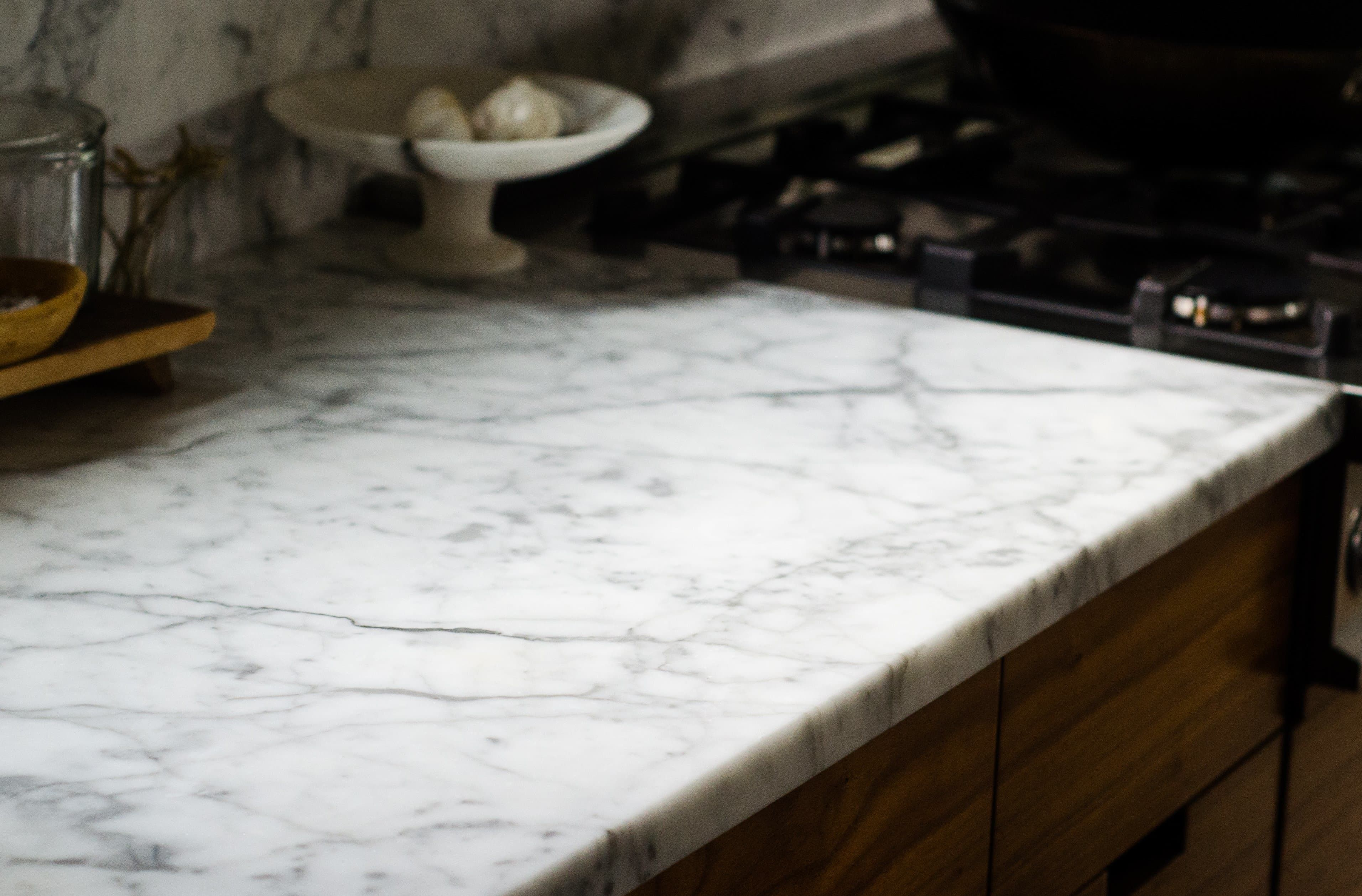 Here S What An Etch On A Marble Countertop Actually Looks Like