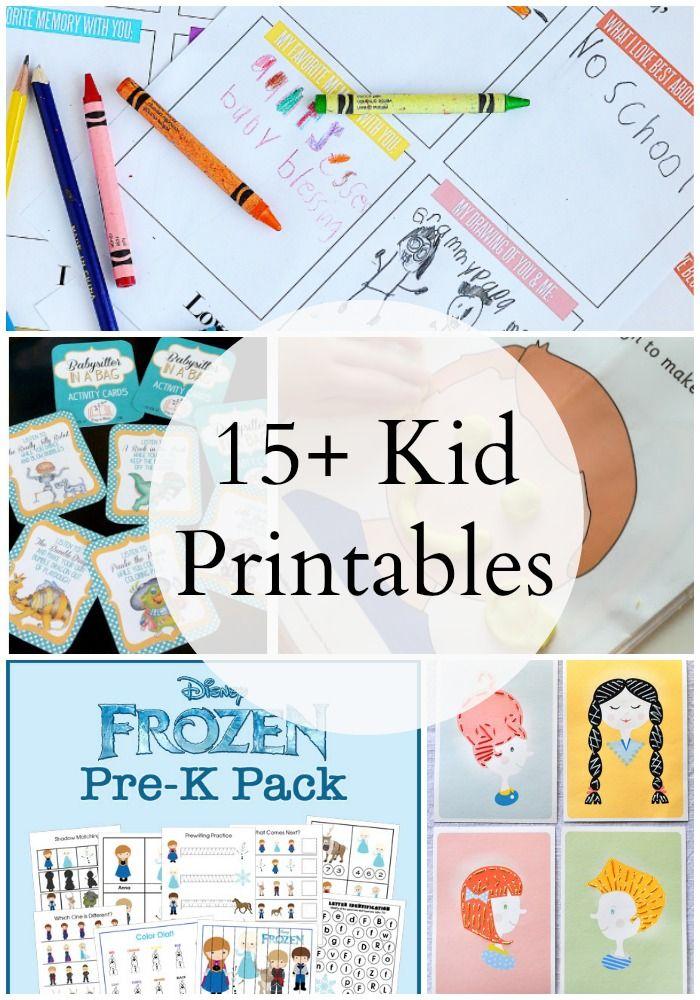 15 Kids Activity Printables | Imprimibles, Manualidades niños y ...