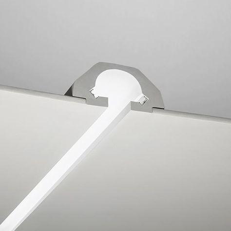 Luci Incasso Led.3 Metri Profilo Per Led In Gesso Taglio Luce Per Doppia