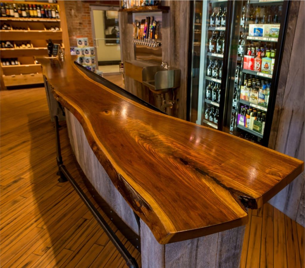 Delicieux A Liquor Store In Canton, Baltimore Had Maryland Wood Countertops  Commission A Custom Bar Top